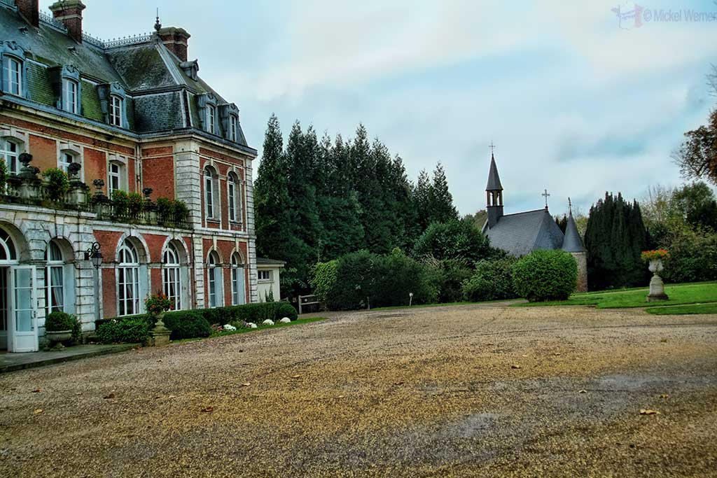 The Chateau de Beaumesnil and its chapel at Villequier