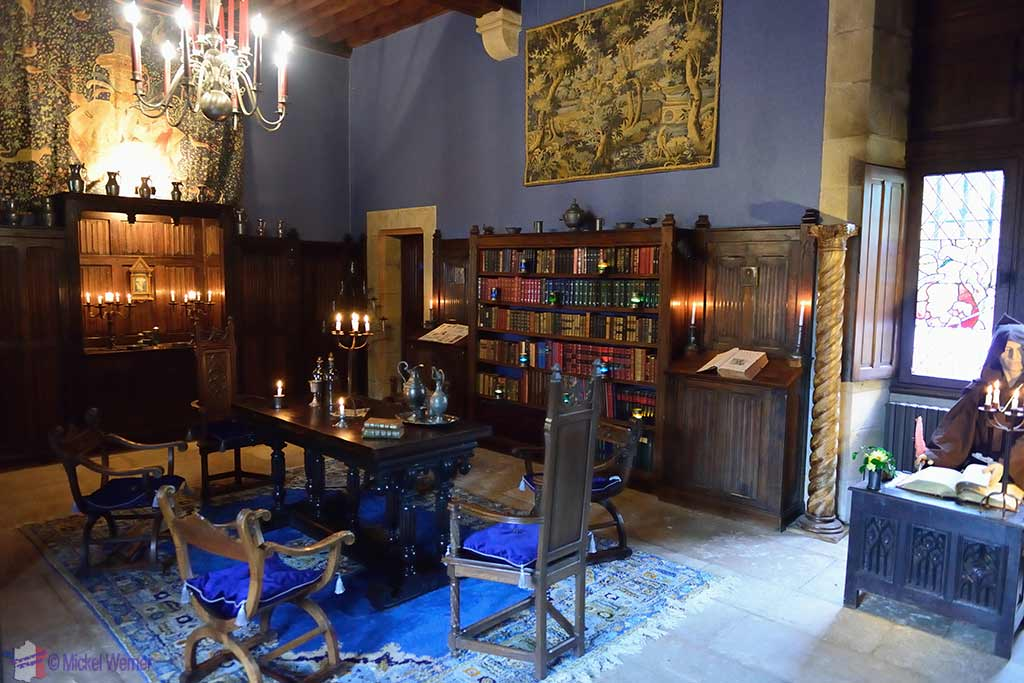 Living quarters inside the Vallon-en-Sully Castle -Chateau de Peufeilhoux