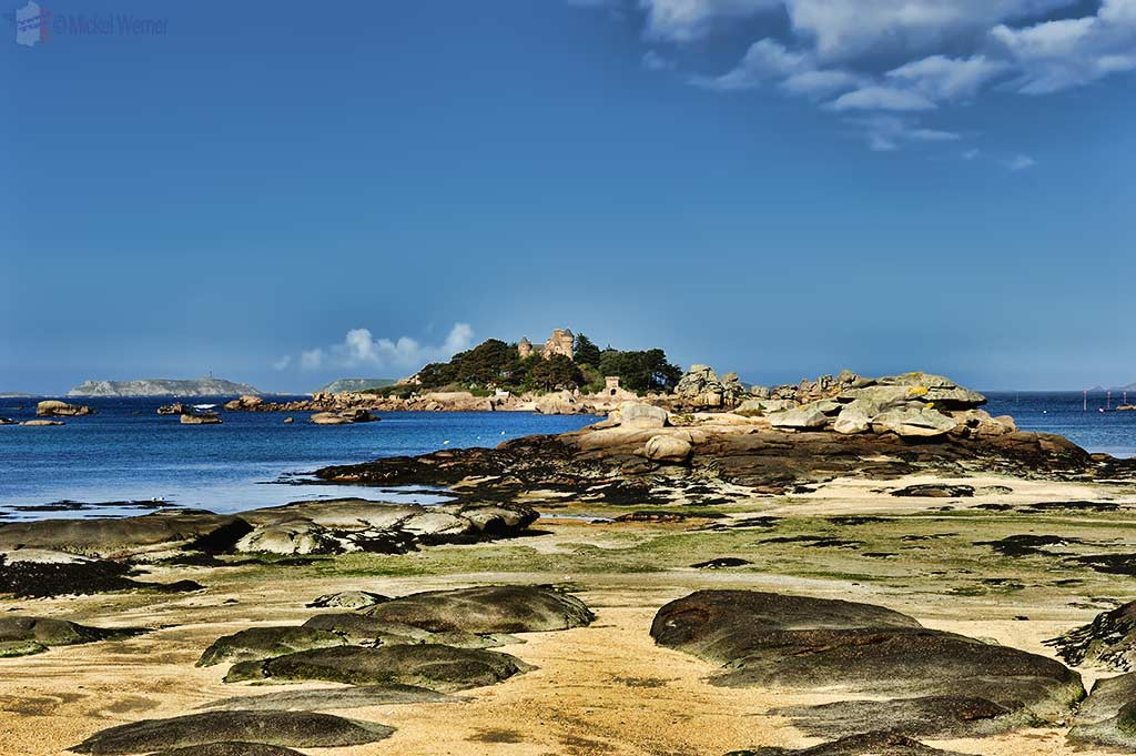 The Castle of Costaeres on the coast of the Cote d'Armor in Brittany.