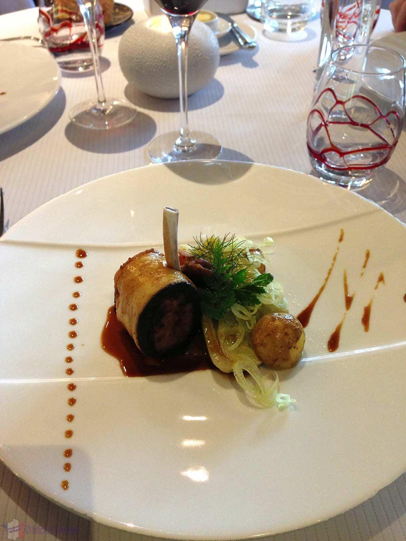 Lamb chops at the Le Bec Au Cauchois/Pierre Caillet restaurant in Valmont, Normandy