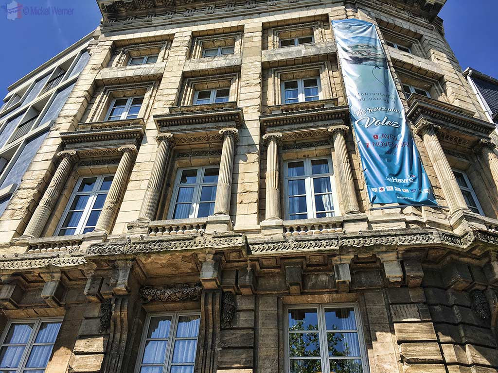 "The facade of the ""Maison de l'Armateur"" in Le Havre"