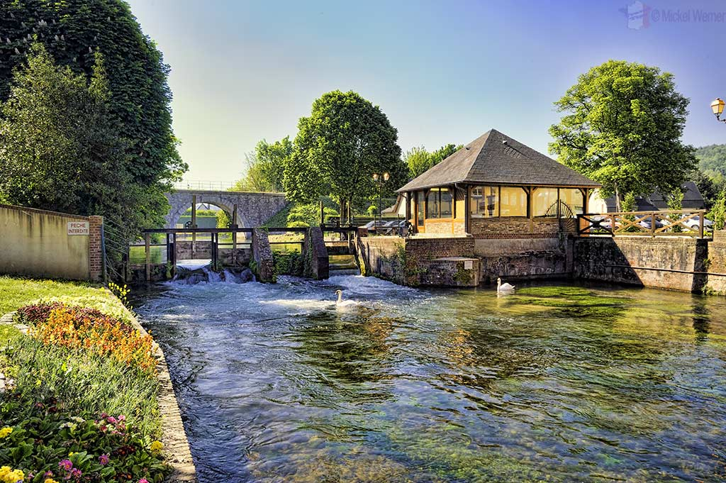 Electricity generating watermill at Cany-Barville, Normandy'