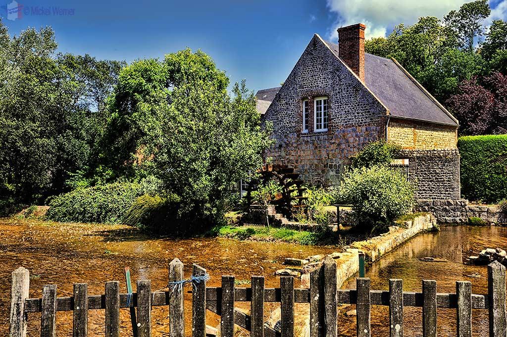 Watermill in Veules-les-Roses, Normandy'