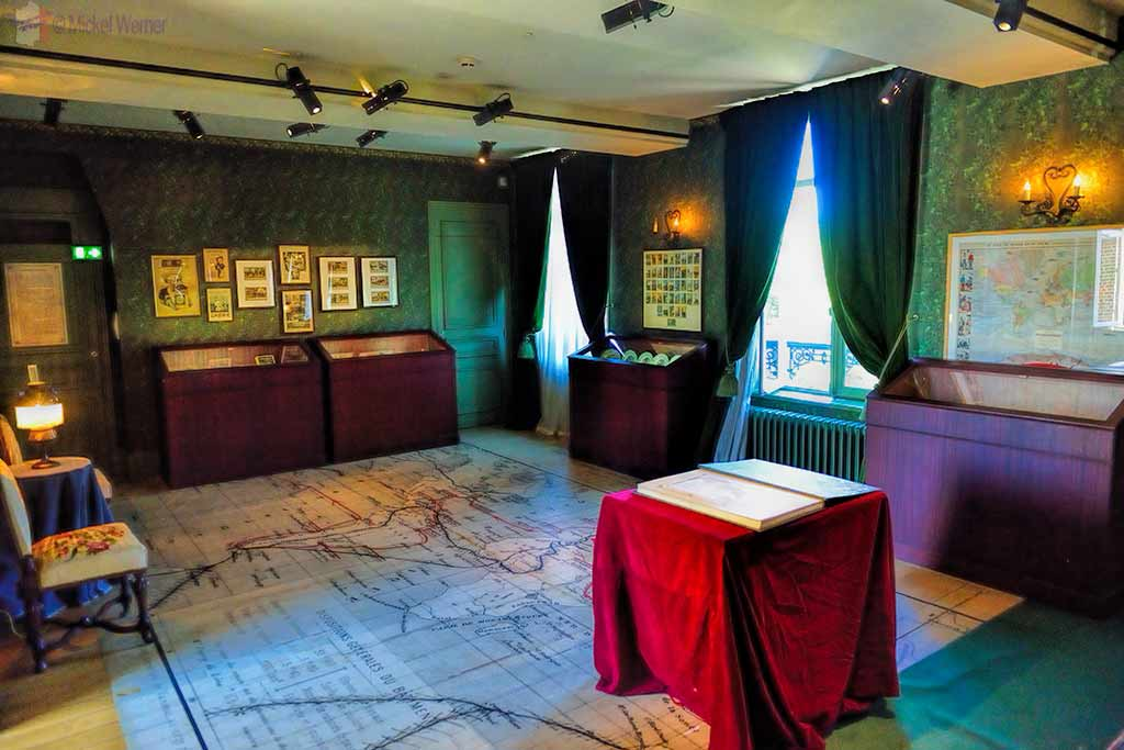 Inside the Jules Verne house and museum in Amiens
