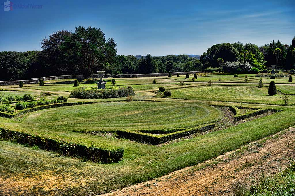 Gardens of the Castle Kergrist at Ploubezre, Brittany