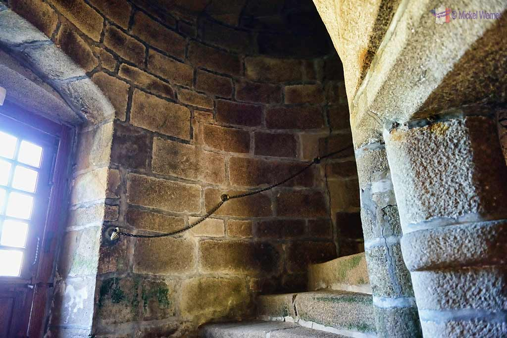 Stairs, inside the Castle Kergrist at Ploubezre, Brittany