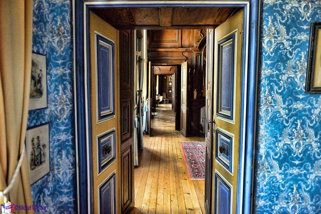 Hallway, inside the Castle Kergrist at Ploubezre, Brittany