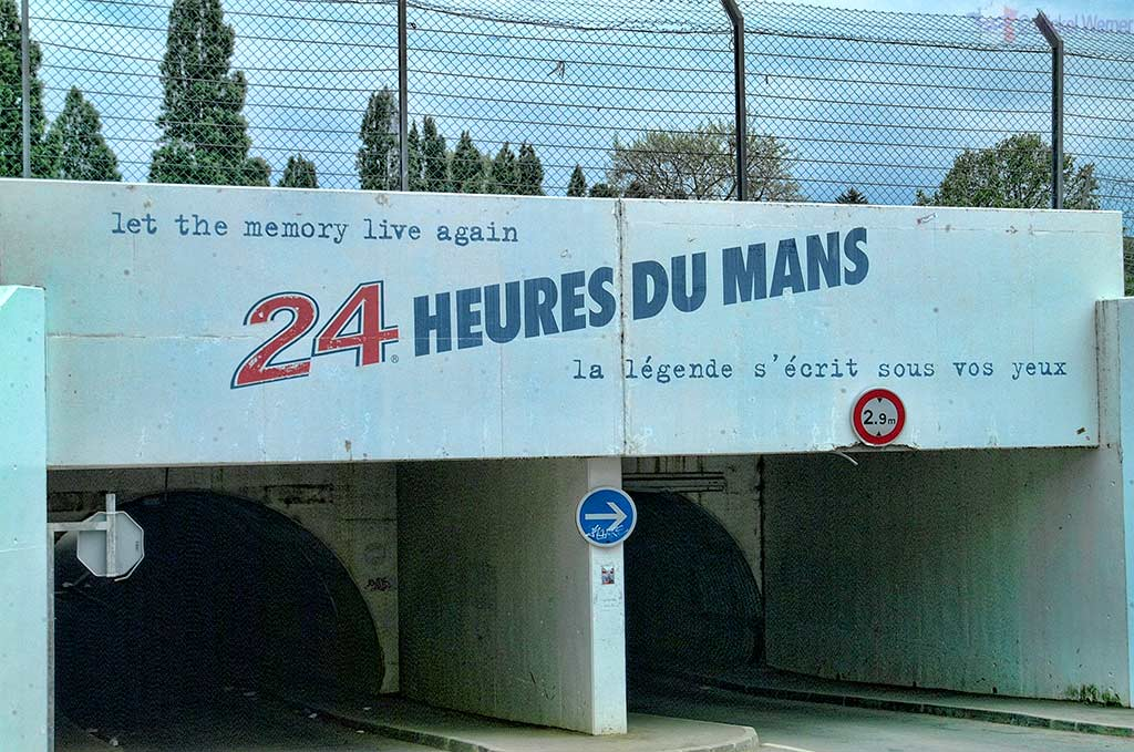 The Bugatti race circuit of Le Mans