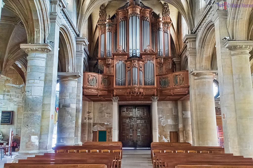 Cardinal Richelieu's organ in the Notre-Dame du Havre Cathedral of Le Havre, Normandy