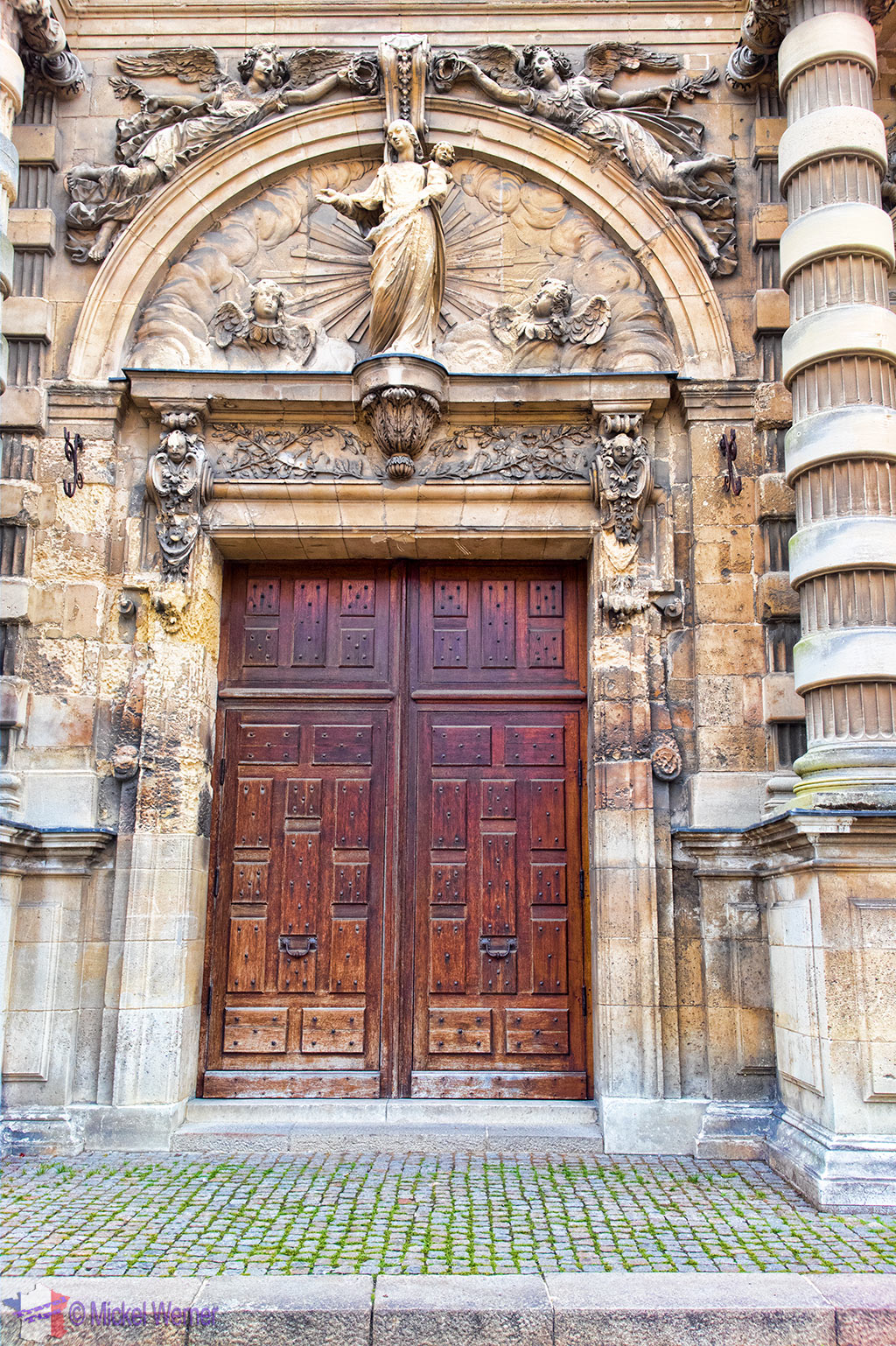 Main door of the Notre-Dame du Havre Cathedral of Le Havre, Normandy