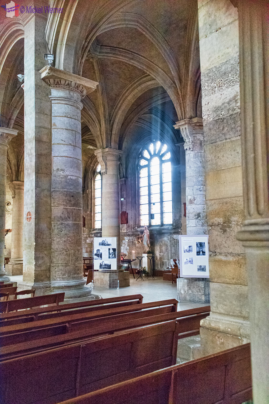 Inside Notre-Dame du Havre Cathedral of Le Havre, Normandy