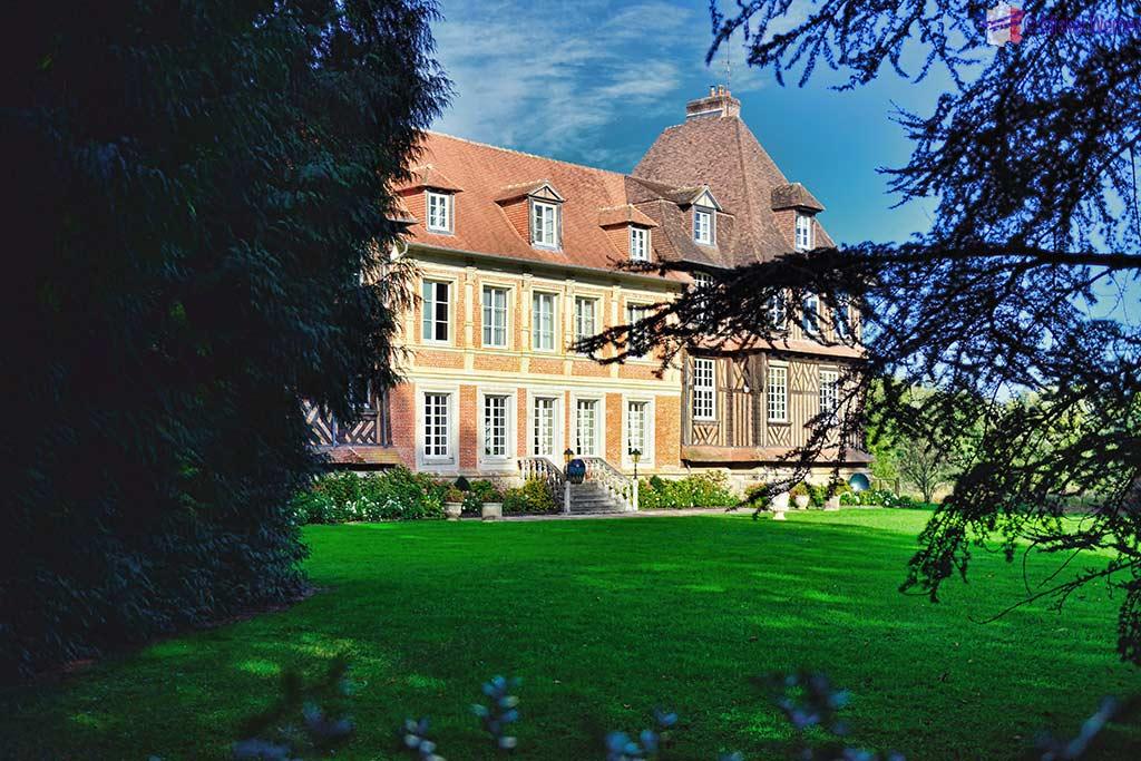 The Chateau du Breuil, Calvados distillery in Le Breuil-en-Auge, Normandy