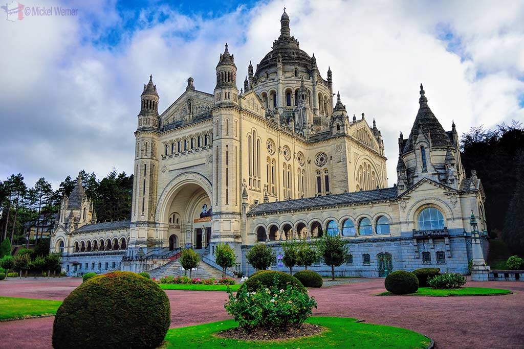 The Basilica of St. Therese in Lisieux, Normandy
