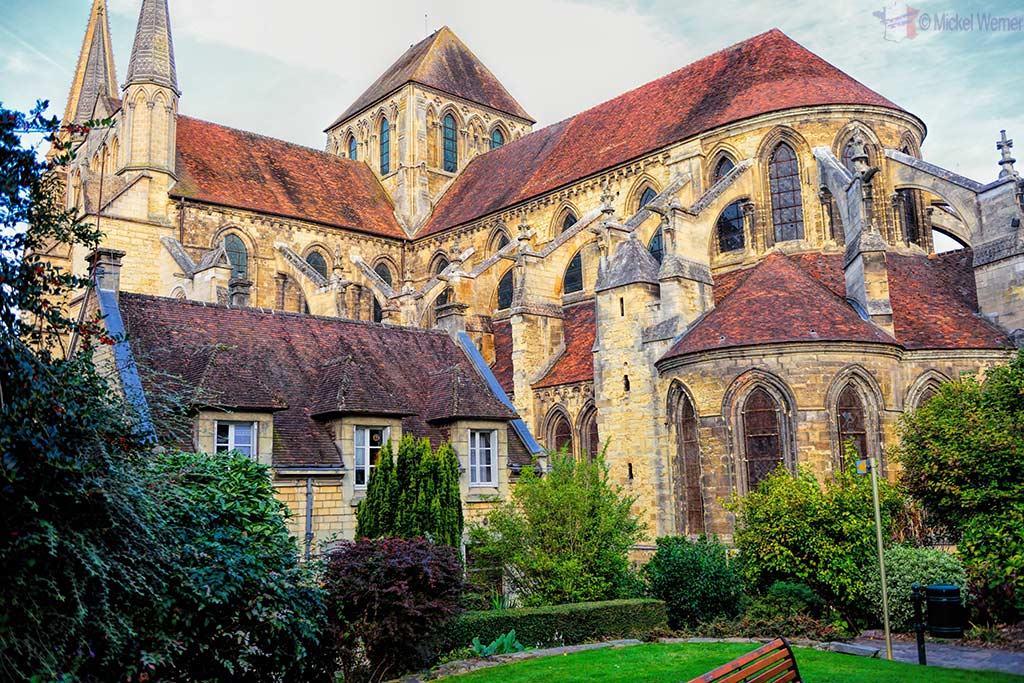 Back of the Saint-Pierre cathedral of Lisieux, Normandy