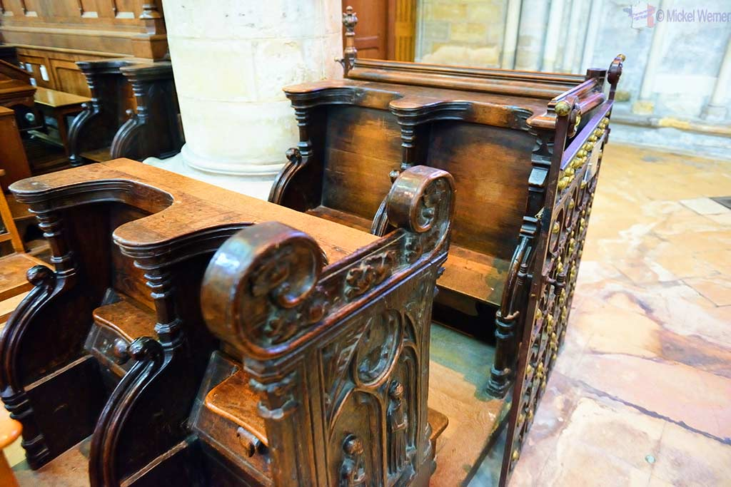 Old pew of the Saint-Pierre cathedral of Lisieux