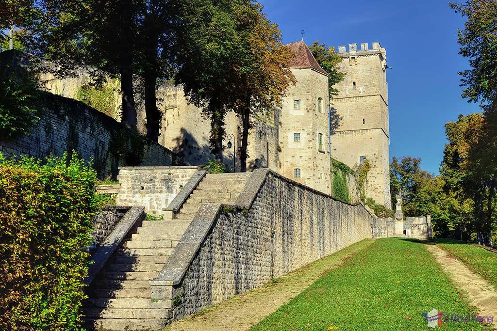 Montbard Castle inside the Buffon Park in Burgundy