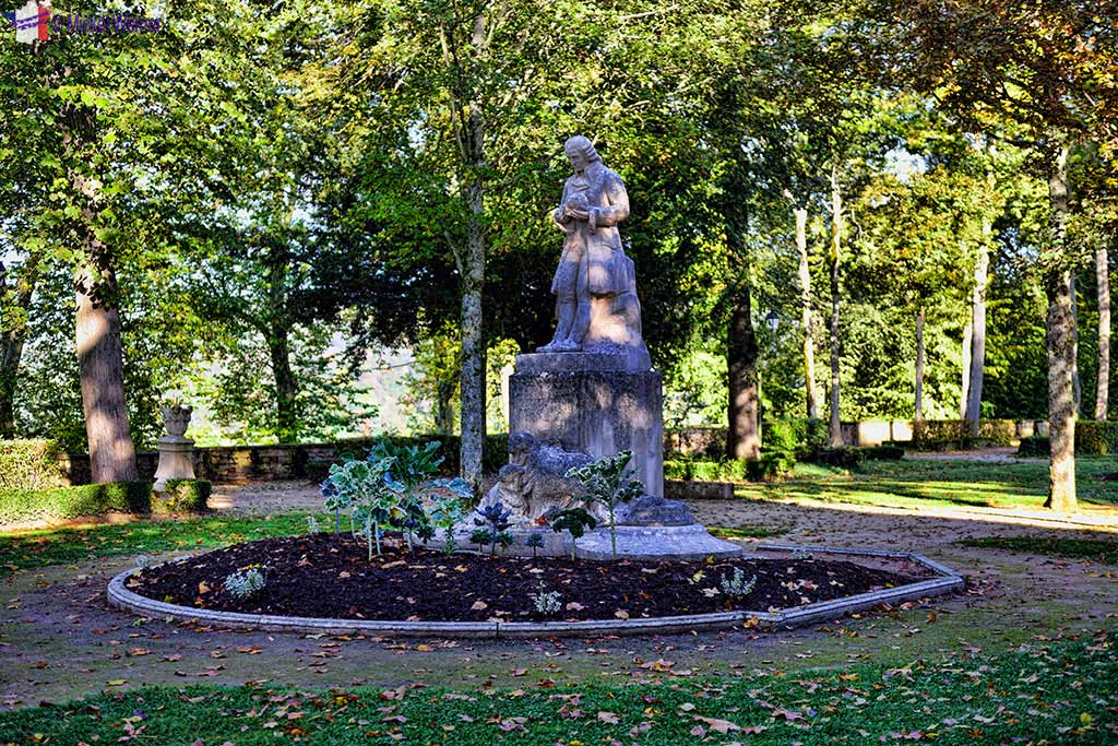Statue of Louis Jean-Marie Daubenton in the Buffon Parc in Montbard, Burgundy