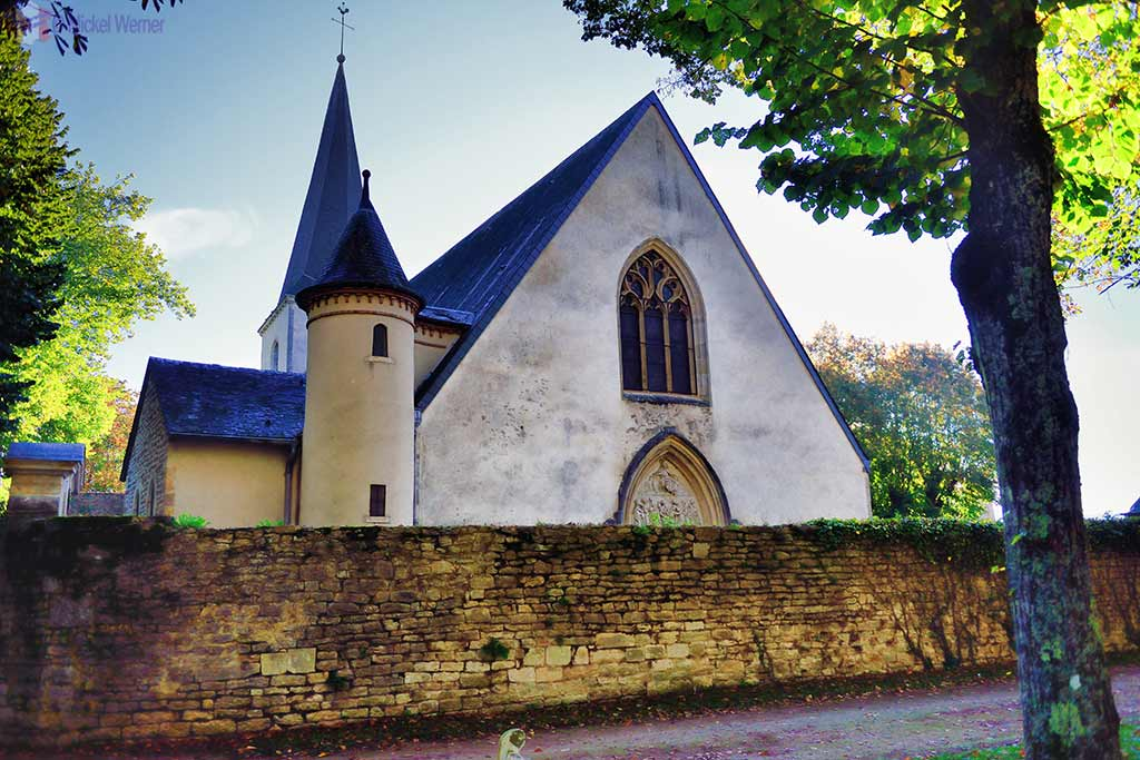 Saint-Urse church of the Montbard castle in Burgundy