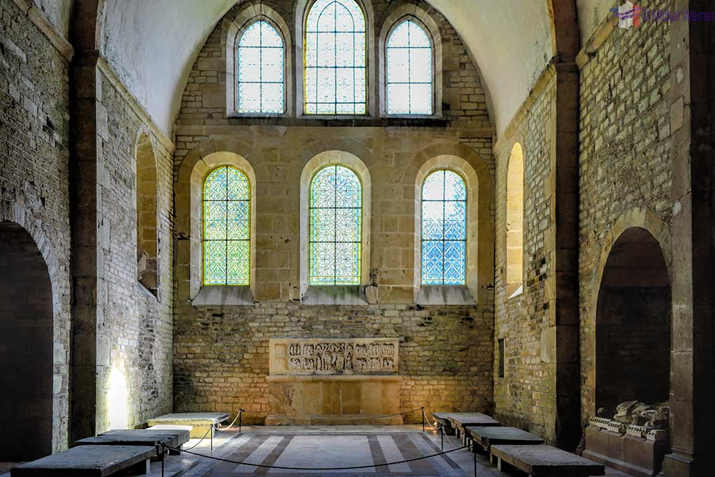 Former altar of the church of the Fontenay Abbey in Montbard, Burgundy