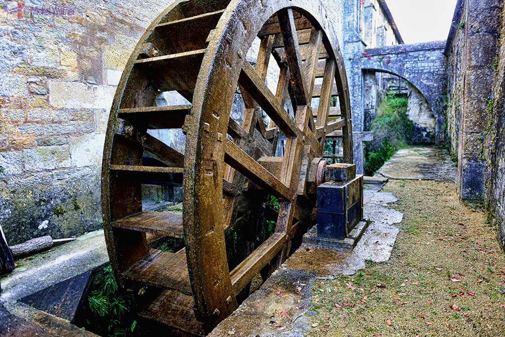 Watermill used by the forge of the Fontenay Abbey in Montbard, Burgundy