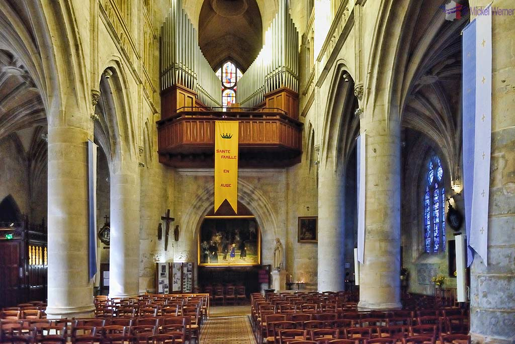 The organ of the Saint-Michel church in Pont l'Eveque, Normandy