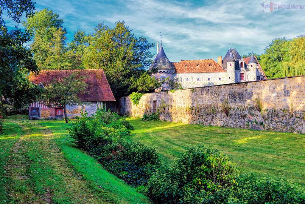 Castle in Saint Germain de Livet, Normandy