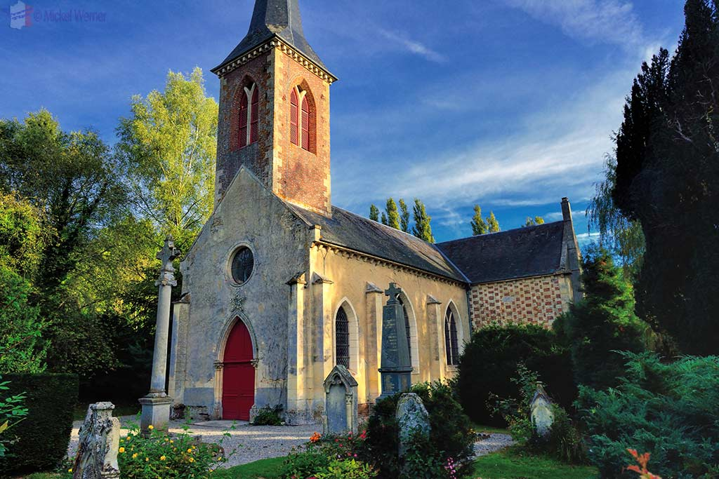 Chapel of the castle in Saint Germain de Livet, Normandy
