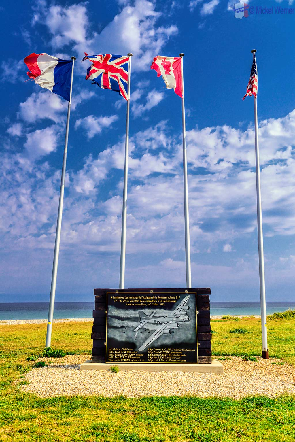 War Memorial at Veulettes-sur-Mer, Normandy
