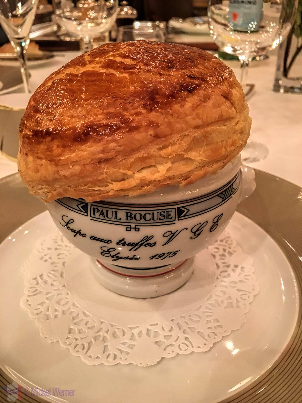 Paul Bocuse's black truffle VGE soup