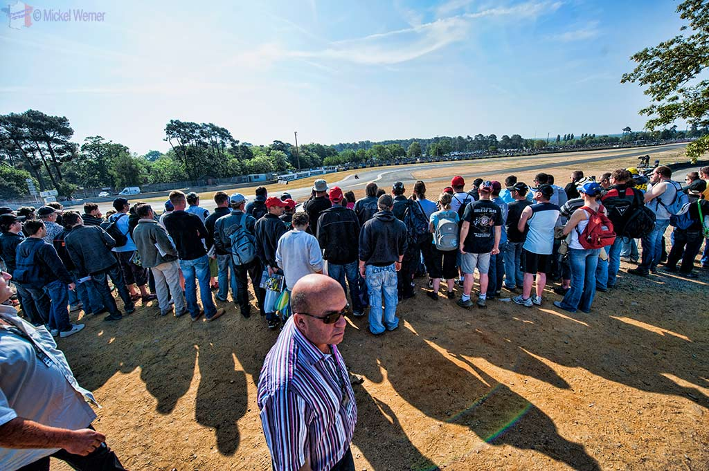 Spectators at the French MotoGP motorcycle race in Le Mans