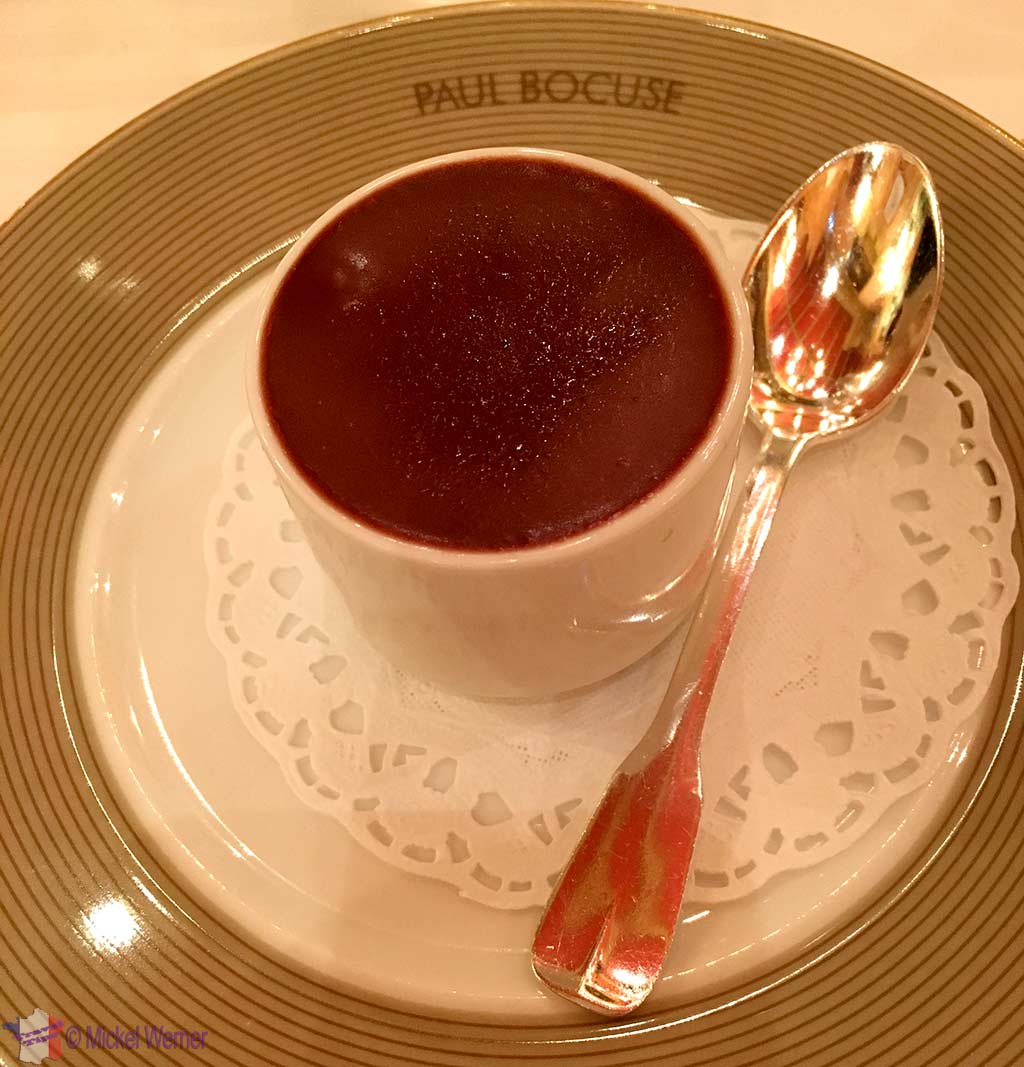 """In between"" food, before desert, at Paul Bocuse restaurant"