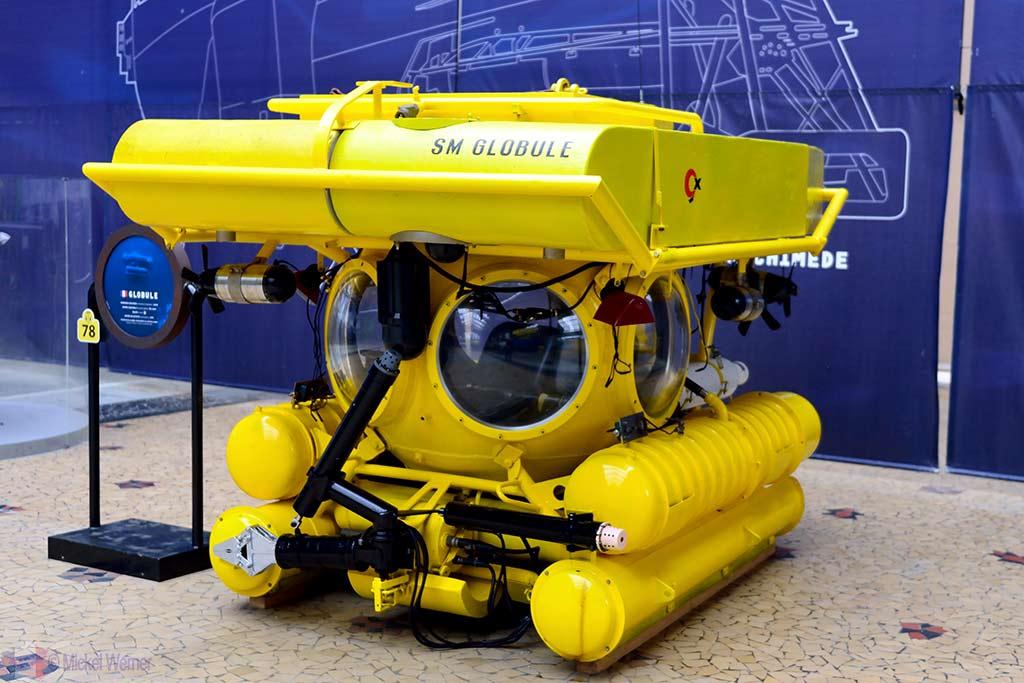 Exploration submarine at the Cite de la Mer museum in Cherbourg