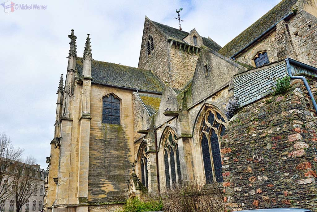 Side of the Basilica of Sainte-Trinite church in Cherbourg