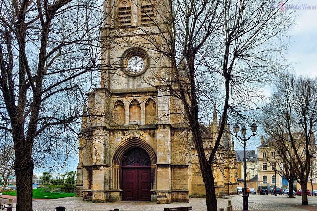 Front of the Basilica of Sainte-Trinite church in Cherbourg