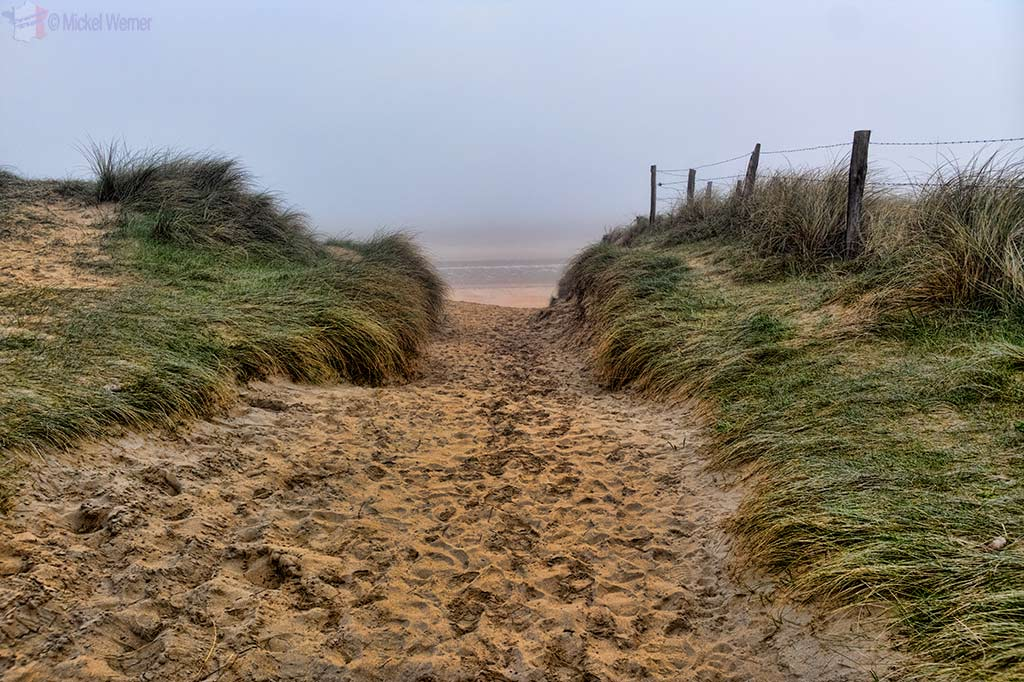 Path to the Utah Beach in Normandy