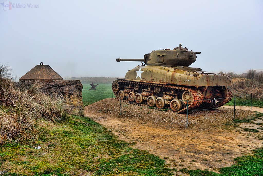 USA Tank on the Utah Beach in front of the museum
