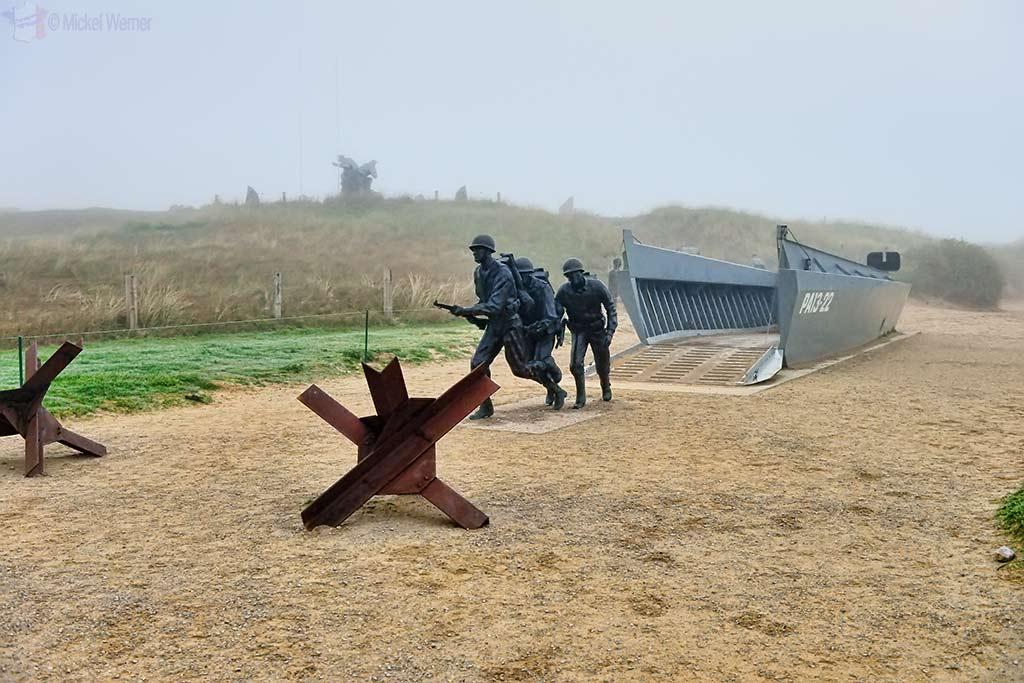 Higgins landing craft at Utah Beach