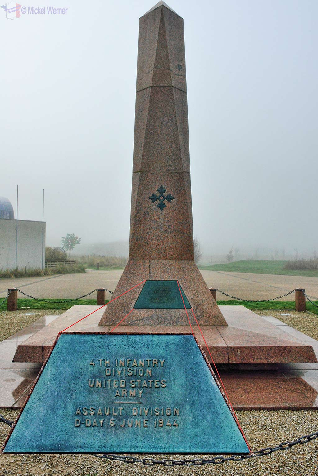 Monument in front of the Utah Beach Landing Museum