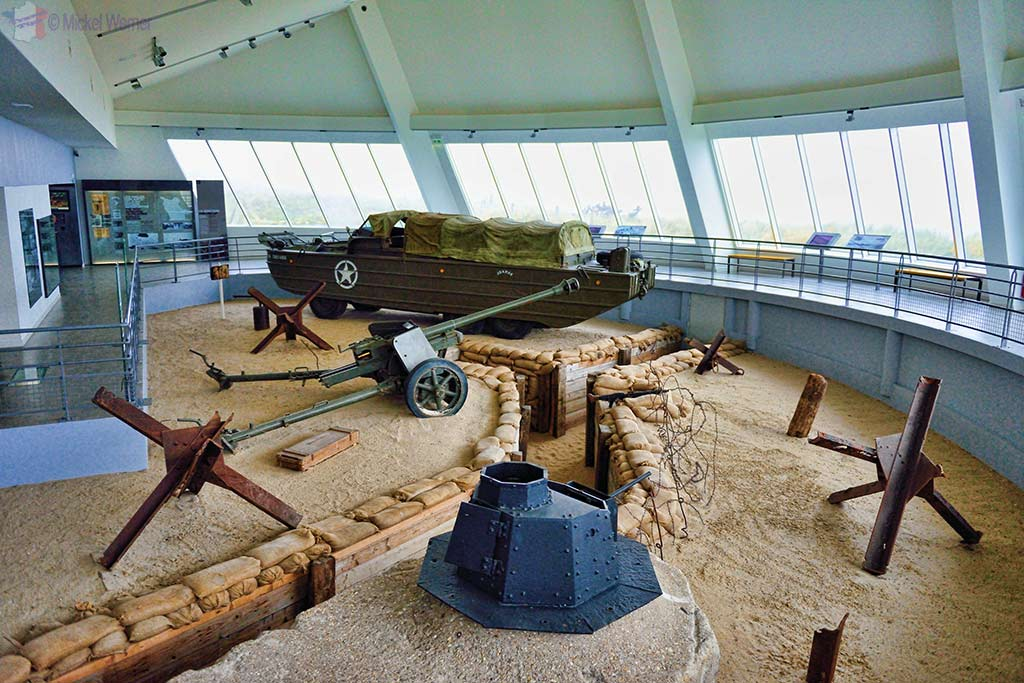 Beach scene at the Utah Beach Landing museum