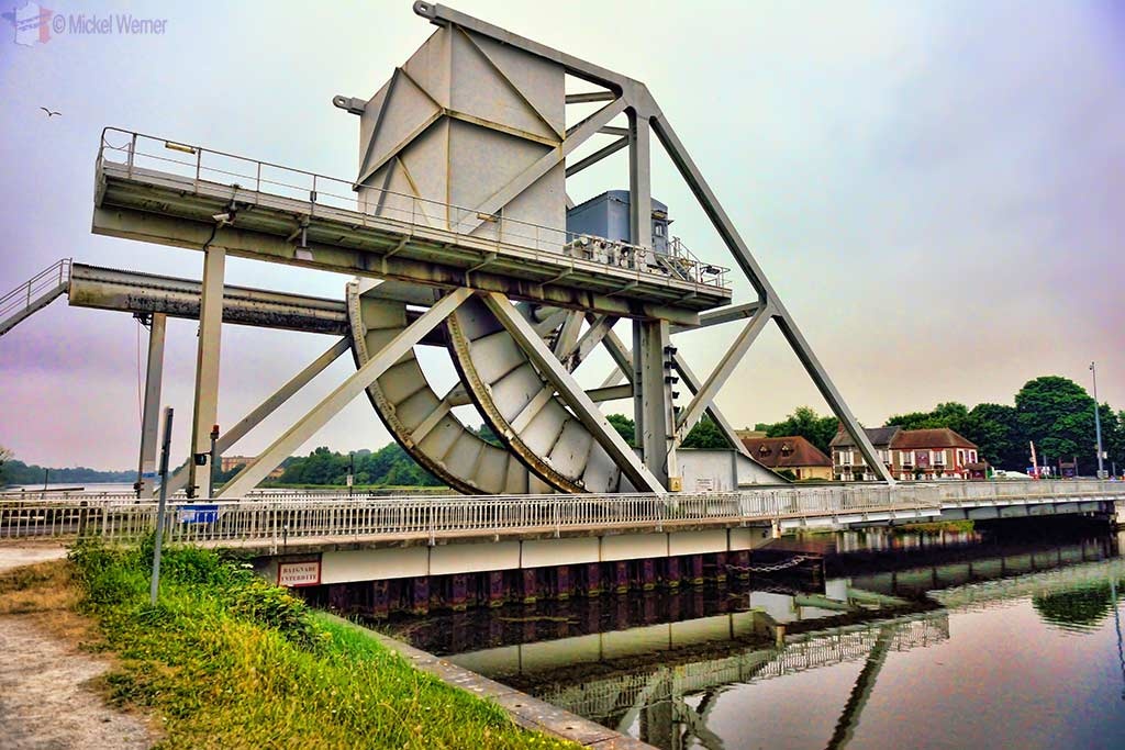 "The ""new"" Pegasus bridge over the Caen Canal"