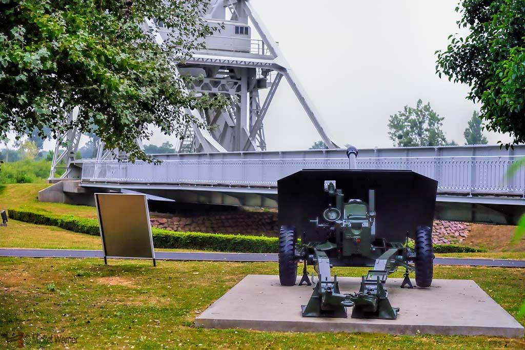 Cannon and Pegasus Bridge at the Memorial