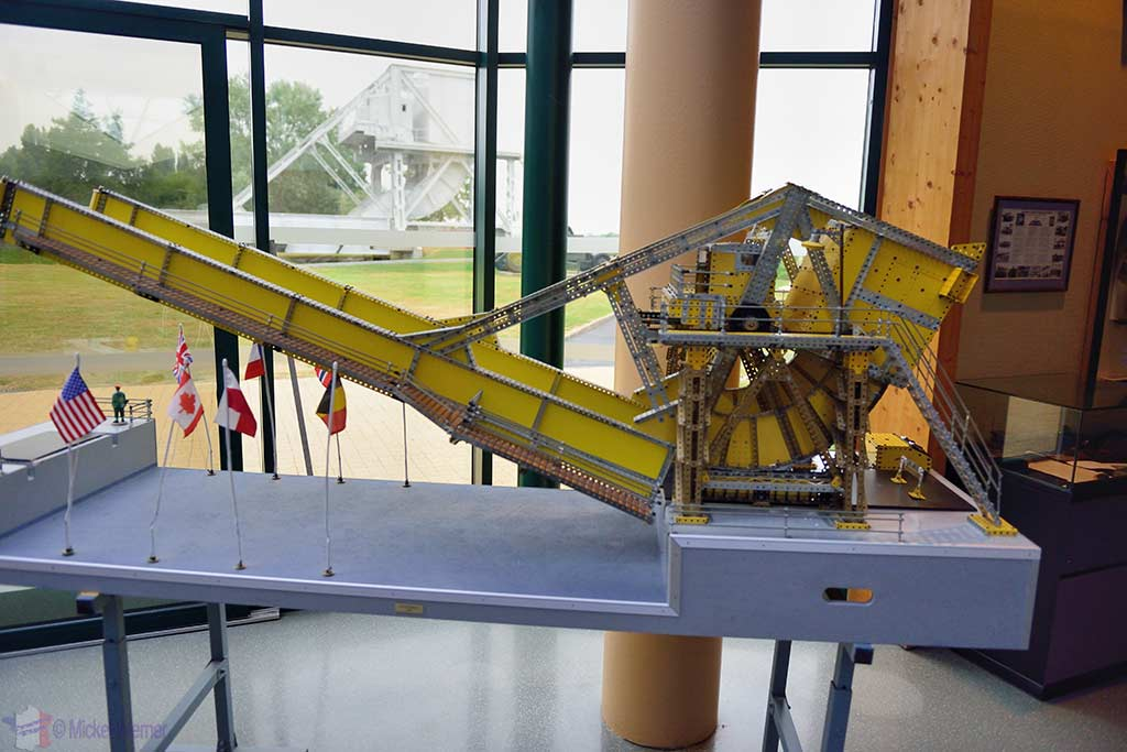 Scaled model of the Pegasus bridge
