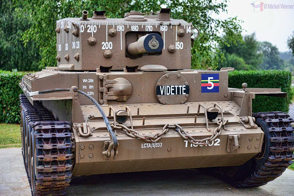 A Centaur tank, like the ones that landed at the Sword and Juno beaches which came to help defend Pegasus bridge