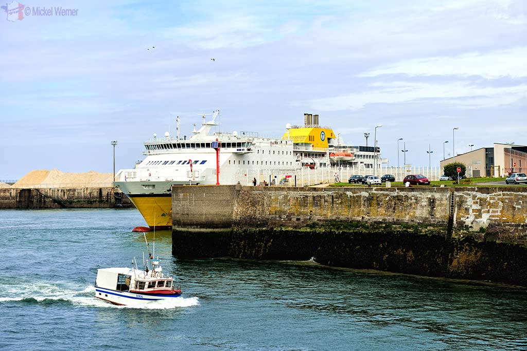 The TransManche ferry docked at Dieppe