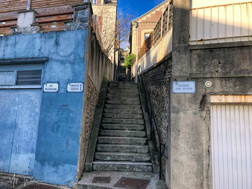"The bottom end of the ""Escalier Jean Valjean"" Le Havre, Normandy"