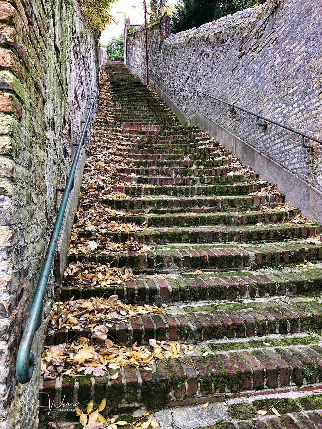 "The stairway ""Escalier-des-Noyers"" in Le Havre, Normandy"