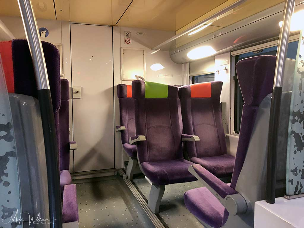 Inside the Double Decker Modern Intercites train of the SNCF