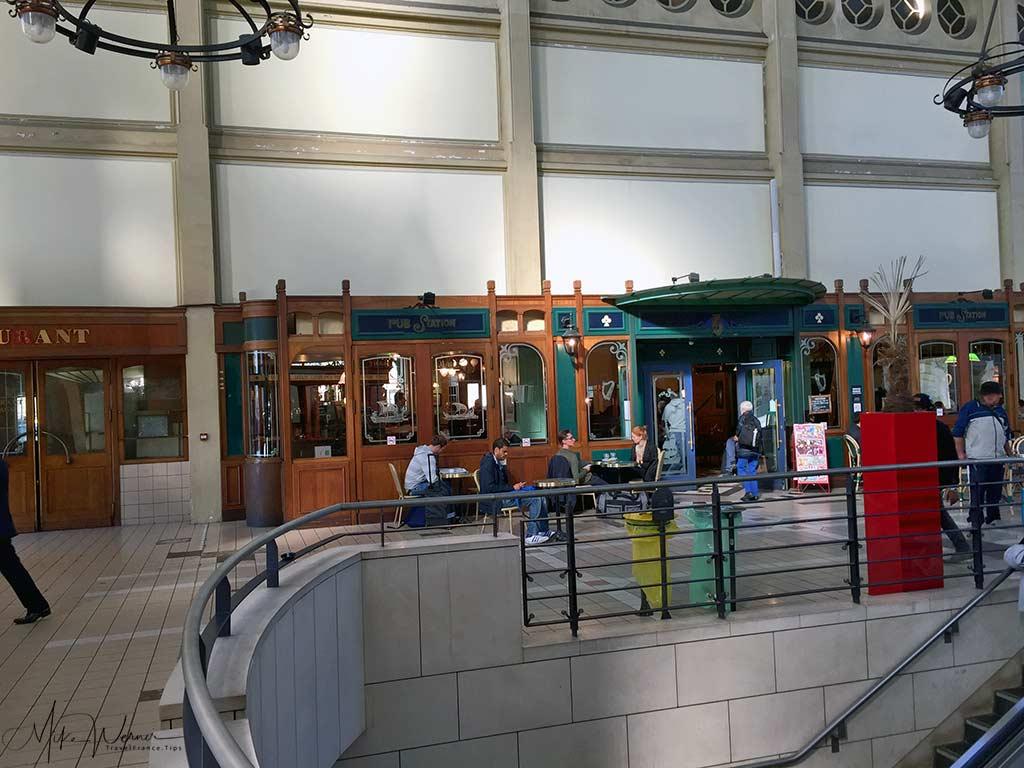 Inside the Rouen railway station