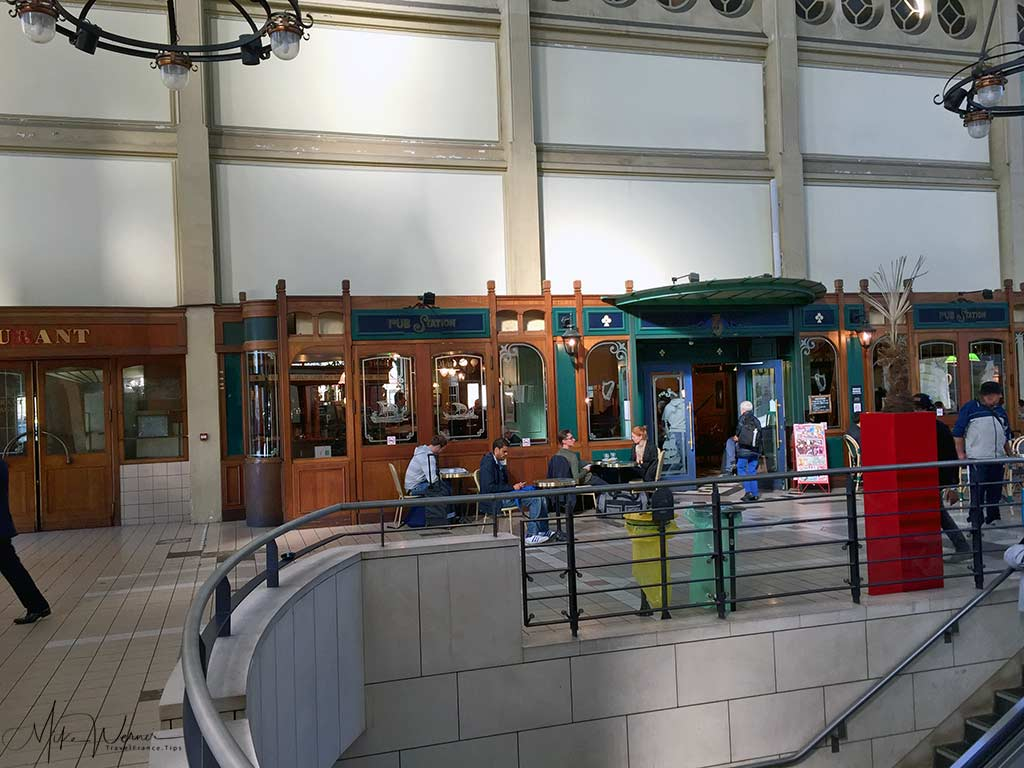 Inside the Rouen railway station