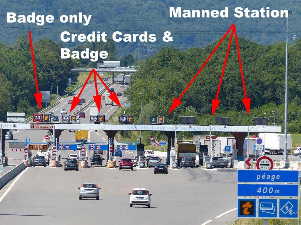 Autoroute toll gates